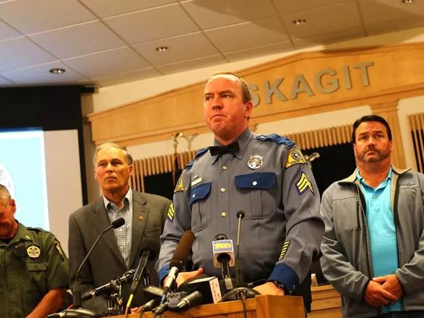 O tenente Mike Hawley, policial responsável do condado (Foto: Karen Ducey / Getty Images / AFP Photo)