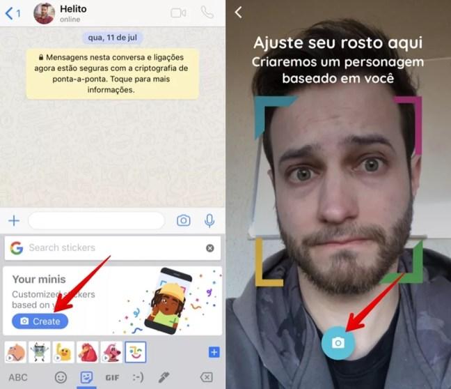 Gboard pede para usuário ajustar o rosto (Foto: Reprodução/Helito Bijora)