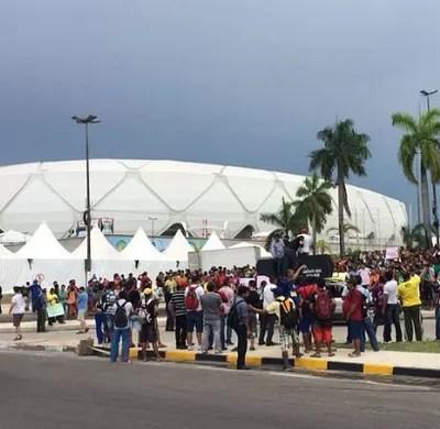 Arena da Amazônia manifestação (Foto: Isabella Pina)