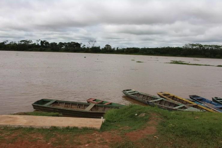 Estudantes se afogaram no rio Mamoré.  — Foto: Júnior Freitas/G1/Arquivo