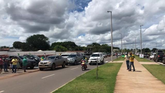 Ato foi encerrado na Via Lago, em Araguaína — Foto: PM/Divulgação