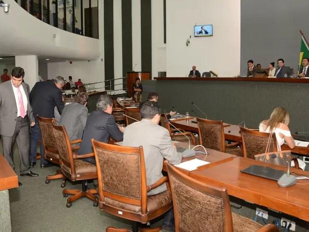 Deputados durante votação na Assembleia Legislativa do Tocantins (Foto: Benhur de Sousa/Assembleia Legislativa/Divulgação)
