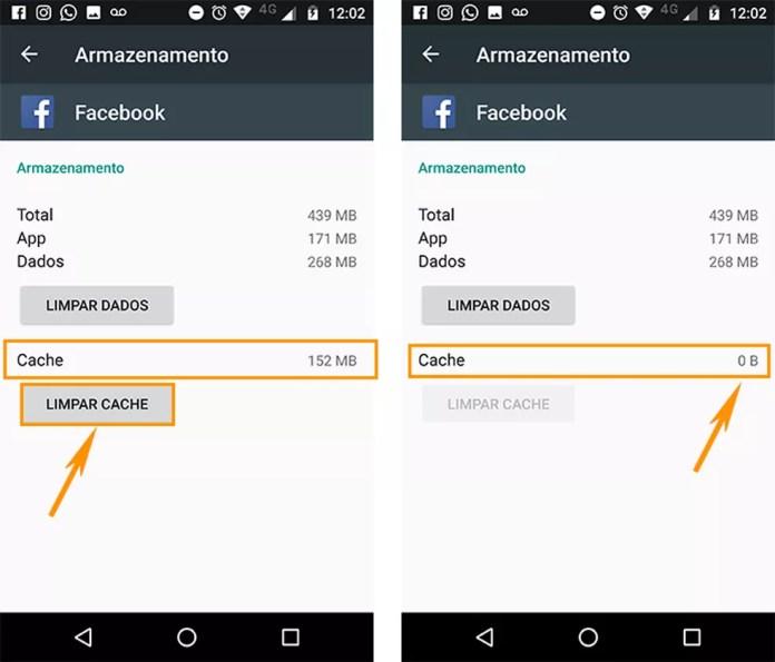 Limpe o cache do aplicativo para liberar o espaço no Android (Foto: Foto: Reprodução/Barbara Mannara)
