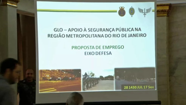 Entrevista coletiva detalhará atuação das Forças Armadas do Rio (Foto: Reprodução)