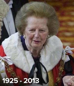 ex-premiê britânica Margaret Thatcher (Foto: AFP)