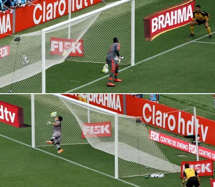 Montagem lances polêmicos Vasco x Flamengo (Foto: André Durão)