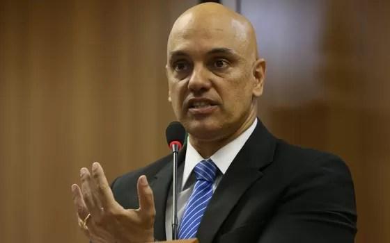 Ministro da Justiça, Alexandre Moraes, fala de grupo suspeito de planejar atos terroristas (Foto: José Cruz/Agência Brasil)