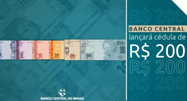 Imagem de apresentação feita pela diretora de Administração do Banco Central, Carolina de Assis Barros, sobre a nova cédula de R$ 200 — Foto: Reprodução / Banco Central