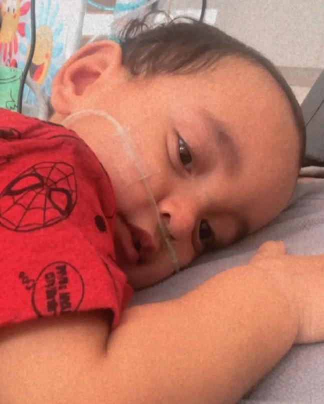 Henrique nasceu prematuro e ficou mais de 130 dias na UTI em MS — Foto: Redes Sociais/Reprodução