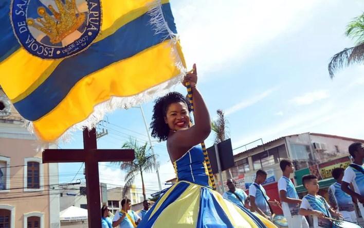 Escola de samba Unidos de Itapuã é uma das atrações da festa (Foto: Enaldo Pinto/Ag Haack)