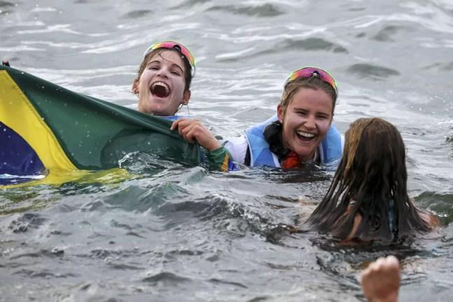 Martine Grael e Kahena Kunze  vela rio 2016 olimpíada — Foto: REUTERS/Benoit Tessier