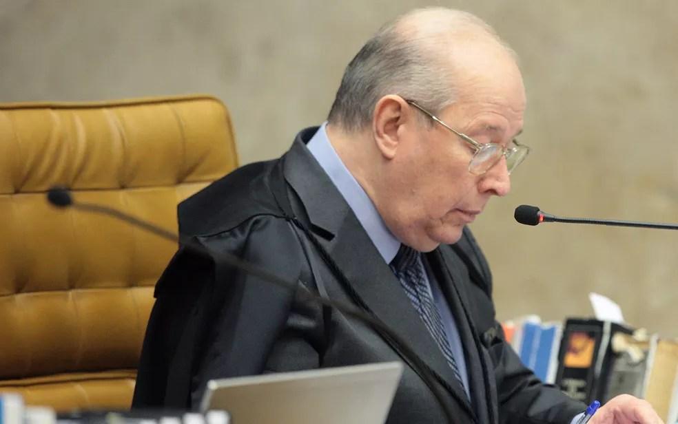 O ministro Celso de Mello, decano do STF, durante julgamento (Foto: Carlos Moura/SCO/STF)