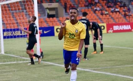 Brenner comemora gol da seleção brasileira no Mundial Sub-17 (Foto: Divulgação/CBF)