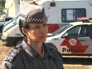 Capitão da Polícia Militar de Franca Cláudia Regina Nunes Lança (Foto: Márcio Meireles/EPTV)