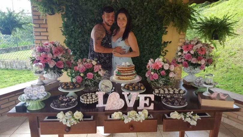 Caio e Bruna moravam juntos há dois anos em São Roque e estavam felizes com a chegada do filho (Foto: Arquivo pessoal)
