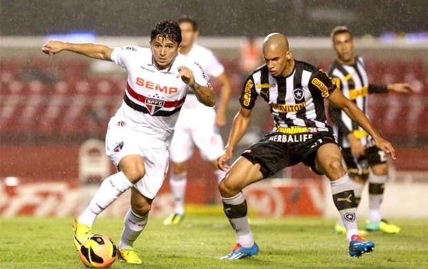 Aloísio e Doria jogo São Paulo e Botafogo (Foto: Rubens Chiri / saopaulofc.net)