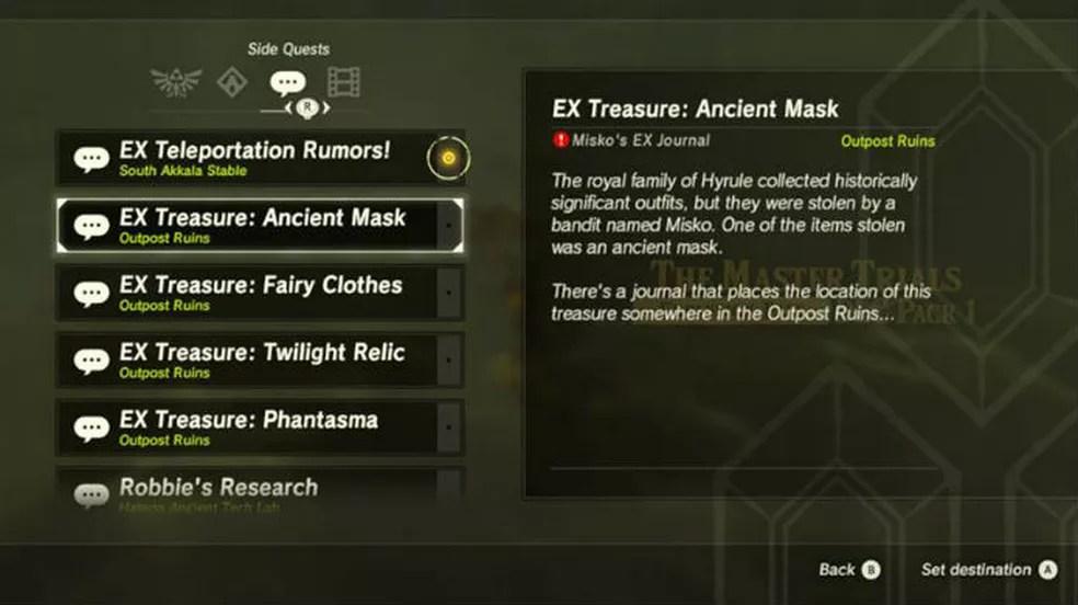 The Legend of Zelda Breath of the Wild: DLC trouxe sidequests para todos os gostos (Foto: Reprodução / Thomas Schulze)