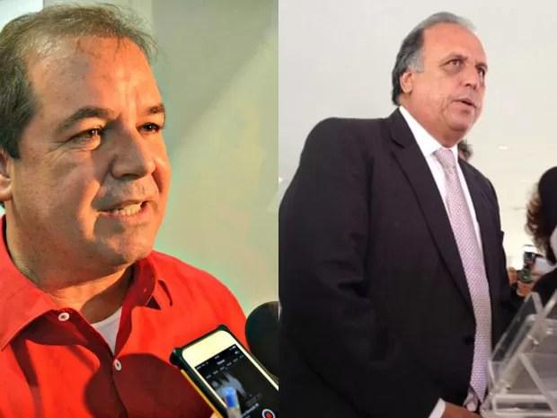 O governador do Acre, Tião Viana e o o governador do Rio, Luiz Fernando Pezão (Foto: G1)