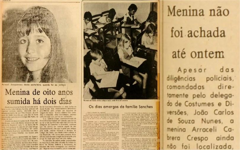Desaparecimento intrigou família da menina Araceli, no Espírito Santo (Foto: CEDOC/ A Gazeta)
