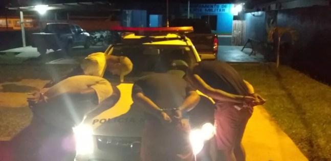 Nove suspeitos foram presos em flagrante pela tentativa de assalto em Cruzeiro do Sul — Foto: Arquivo/PM-AC