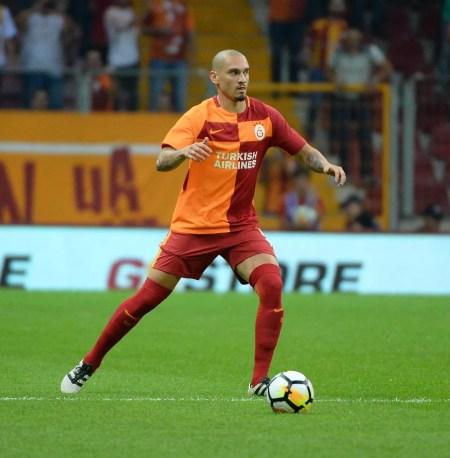 Maicon em ação pelo Galatasaray, da Turquia (Foto: Reprodução/twitter)