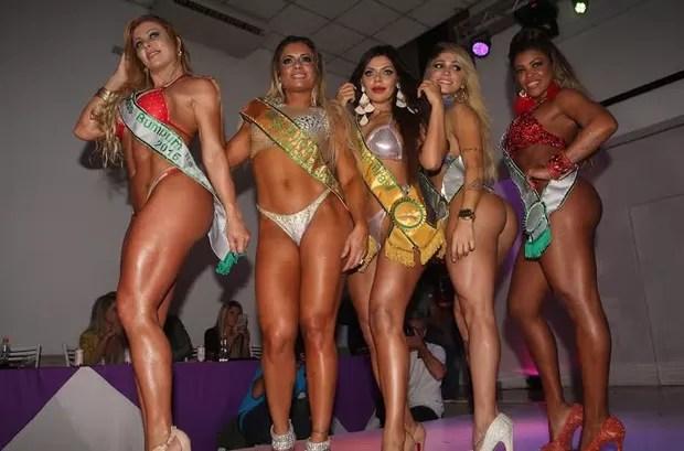 Vencedoras Miss Bumbum (Foto: Celso Tavares)