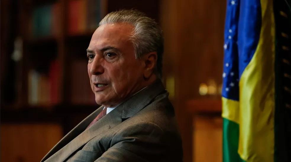 O presidente Michel Temer, durante entrevista à Rede Vida (Foto: Marcos Corrêa/PR)