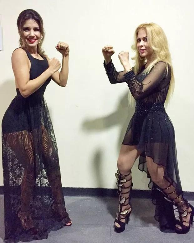 Paula Fernandes e Joelma no Prêmio Multishow (Foto: Reprodução/Instagram)