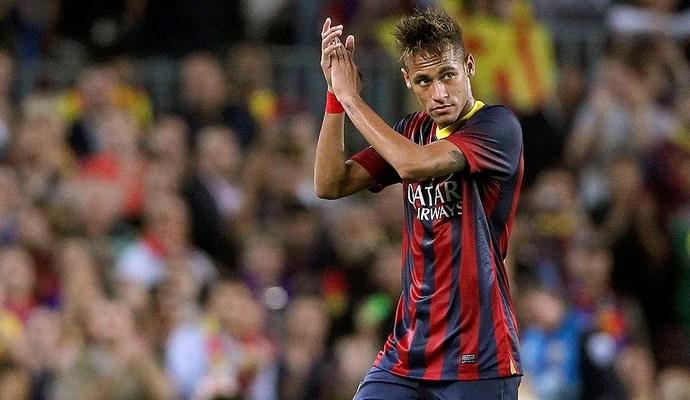 Neymar comemoração Barcelona jogo Real Madrid (Foto: Reuters)