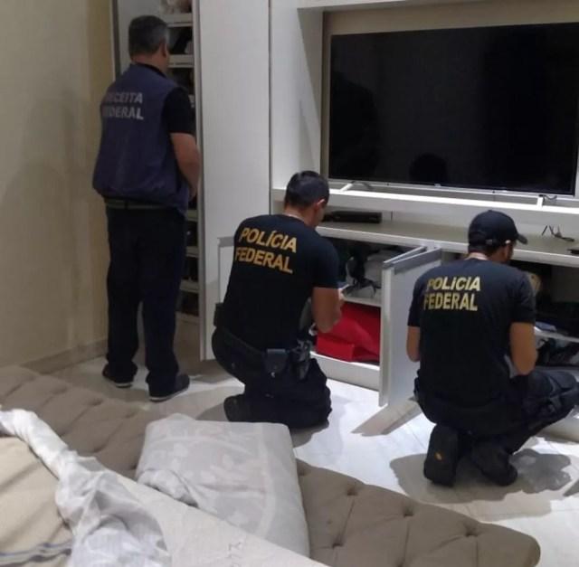 São cumpridos 72 mandados de busca e apreensão em cidades de Rondônia, Pará e Mato Grosso.  — Foto: Polícia Federal/ Divulgação