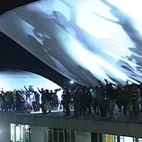 DF: grupo subiu rampa do Congresso (Reprodução/TV Globo)