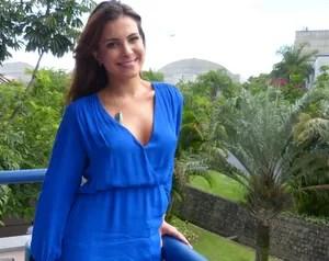 Kamilla visita a produção do Domingão (Foto: Domingão do Faustão / TV Globo)