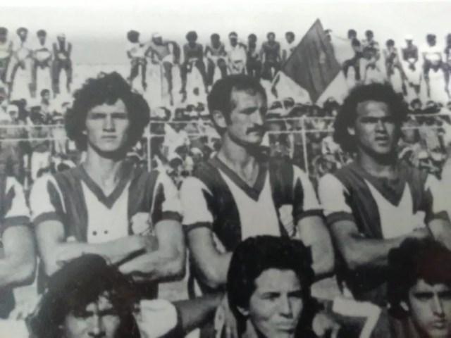 Felipão, sempre de bigode, nos tempos de CSA, último clube em que jogou — Foto: Museu dos Esportes