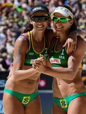 Talita e Larissa comemoram título na Suíça