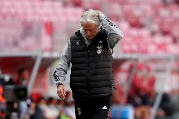Jorge Jesus lamenta: Benfica tropeçou diante do Gil Vicente — Foto: Getty Images