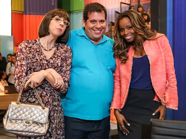 Mariana Armellini, Leandro Hassum e Roberta Rodrigues (Foto: Globo/Paulo Belote)