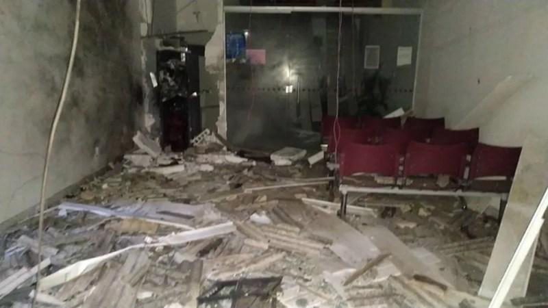 Explosão em posto de atendimento bancário em Terezinha — Foto: Internet/Reprodução