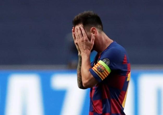 Messi comunicou ao Barcelona que quer deixar o clube — Foto: Manu Fernandez/Reuters