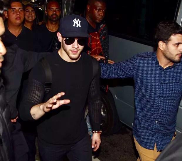Nick Jonas em São Paulo (Foto: Manuela Scarpa/Brazil News)