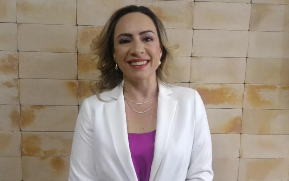 Adriana Accorsi candidata a prefeita pelo PT Goiânia — Foto: Vanessa Martins/G1