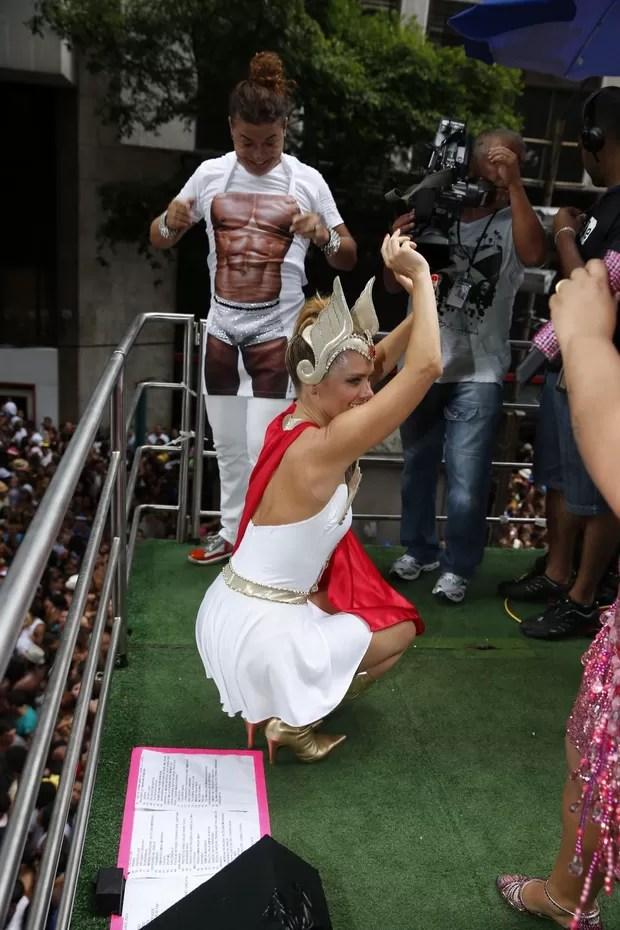 David Brazil e Carolina Dieckmann (Foto: Felipe Panfili/ Ag.News)