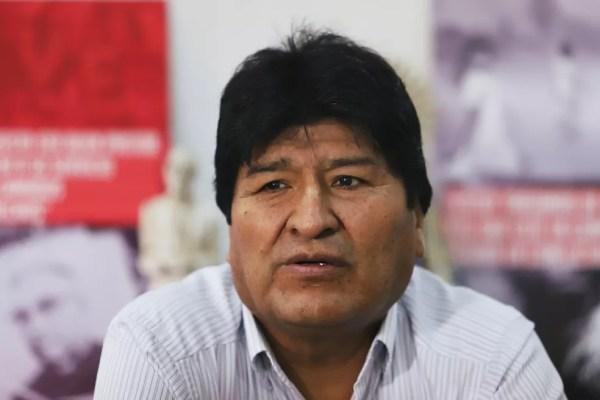 Imagem de Evo Morales durante entrevista no dia 6 de janeiro de 2020 — Foto: Matias Baglietto/Reuters