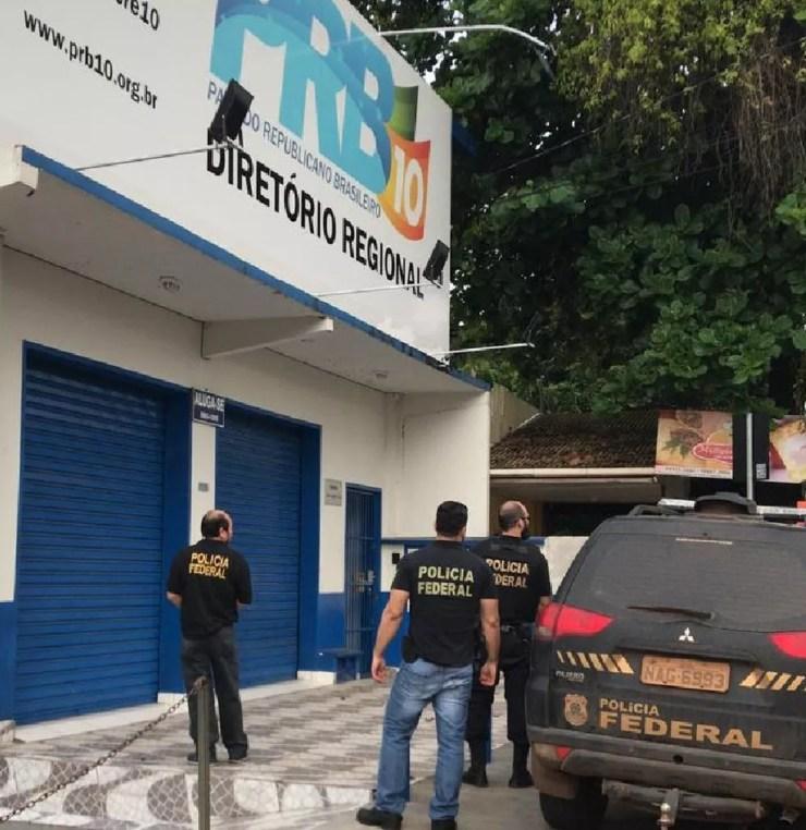 Polícia Federal fez operação em Rio Branco nesta terça-feira (11) — Foto: Divulgação/PF-AC