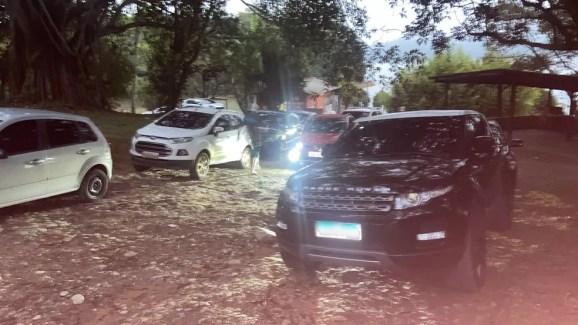 70 carros foram encontrados em estacionamento de festa clandestina em SBC — Foto: Arquivo Pessoal