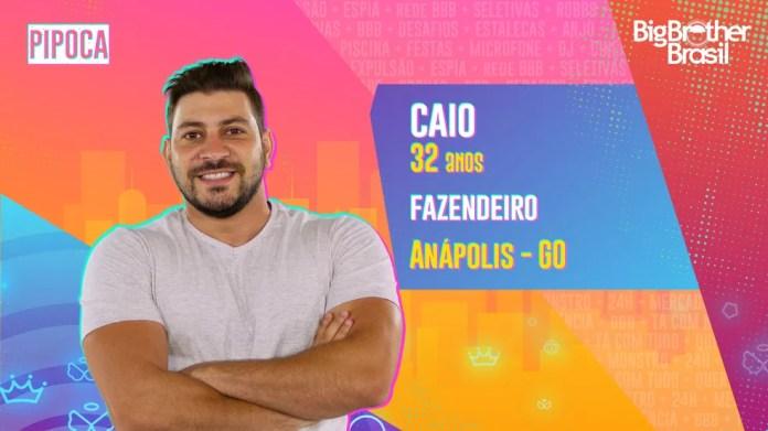 Caio é participante do'BBB21' — Foto: Divulgação/Globo