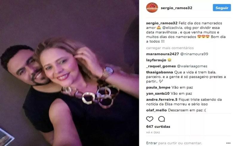 Sérgio Ramos postou esta foto no Dia dos Namorados. (Foto: Reprodução/Instagram)