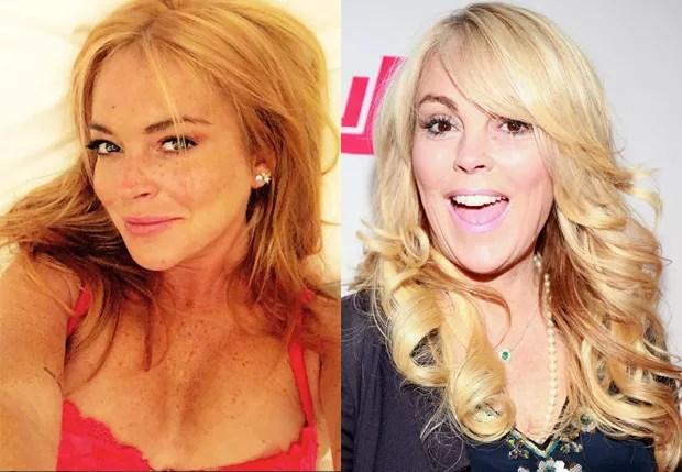 Lindsay Lohan e a mãe, Dina Lohan (Foto: Reprodução e Getty Images)