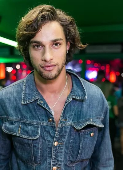 Pablo Morais no camarote da Heineken (Foto: Bruno Ryfer)