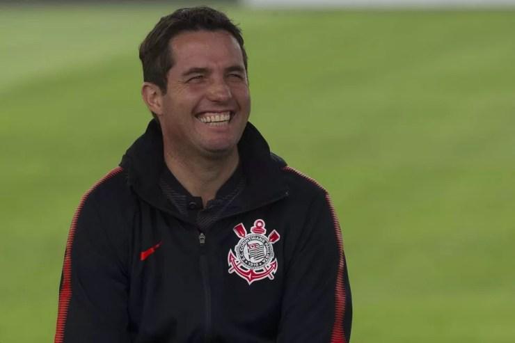 Osmar Loss venceu duas partidas oficiais consecutivas pela primeira vez no comando do Corinthians (Foto: Daniel Augusto Jr/Ag.Corinthians)