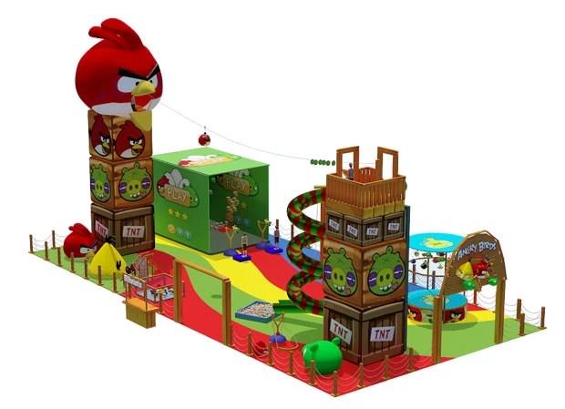 Imagem do projeto do parque de Angry Birds (Foto: Divulgação/BRMALLS)